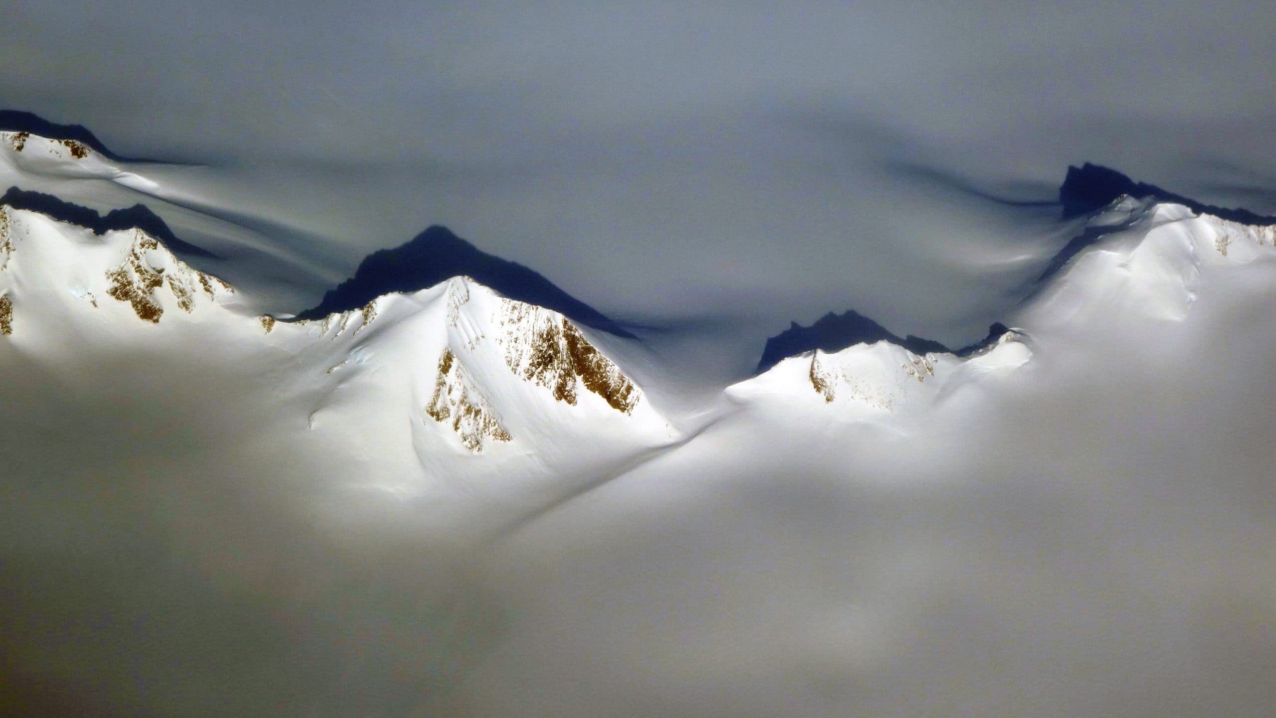 Vue avion Ilulissat Groenland calotte