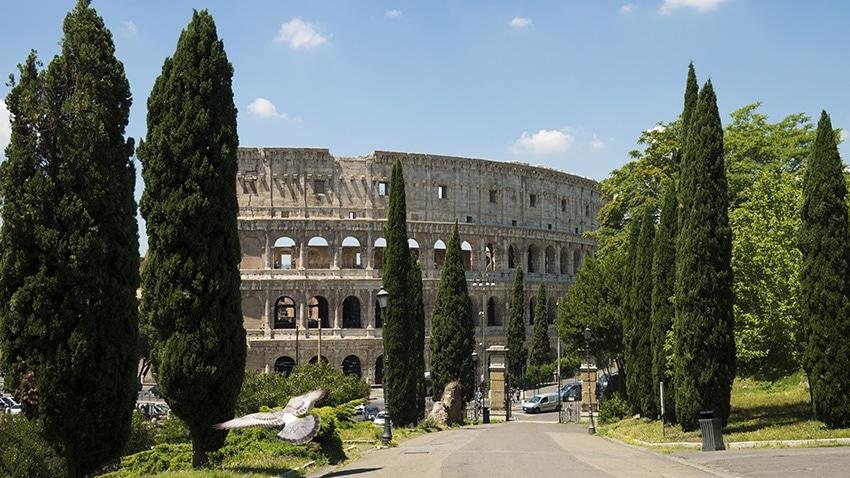 Rome en 3 jours Colisée mouette ciel bleu