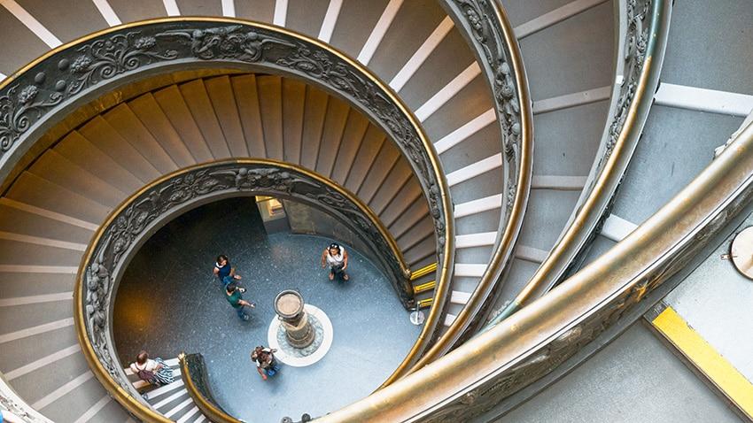 Rome en 3 jours escalier colimaçon Vatican