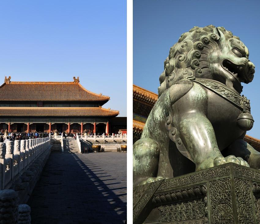 Détails cité interdite dragon palais ciel bleu