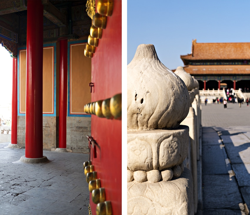 Cité Interdite Pékin vues palais porte touristes