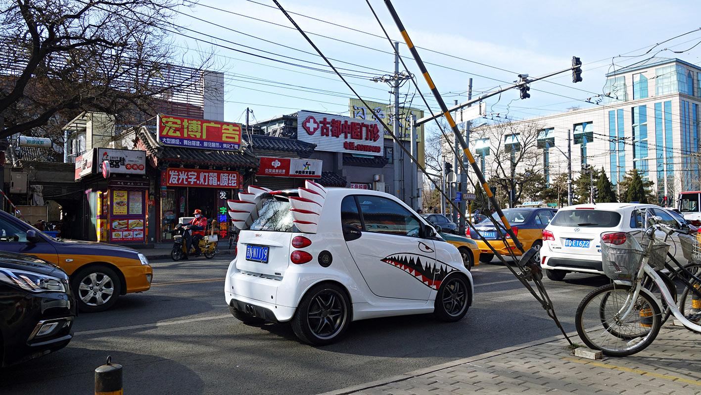 Route circulation voiture ailée Pékin