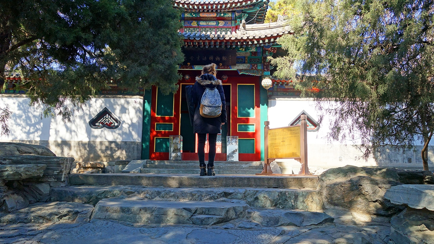 Cité interdite parc de Beihai pagode