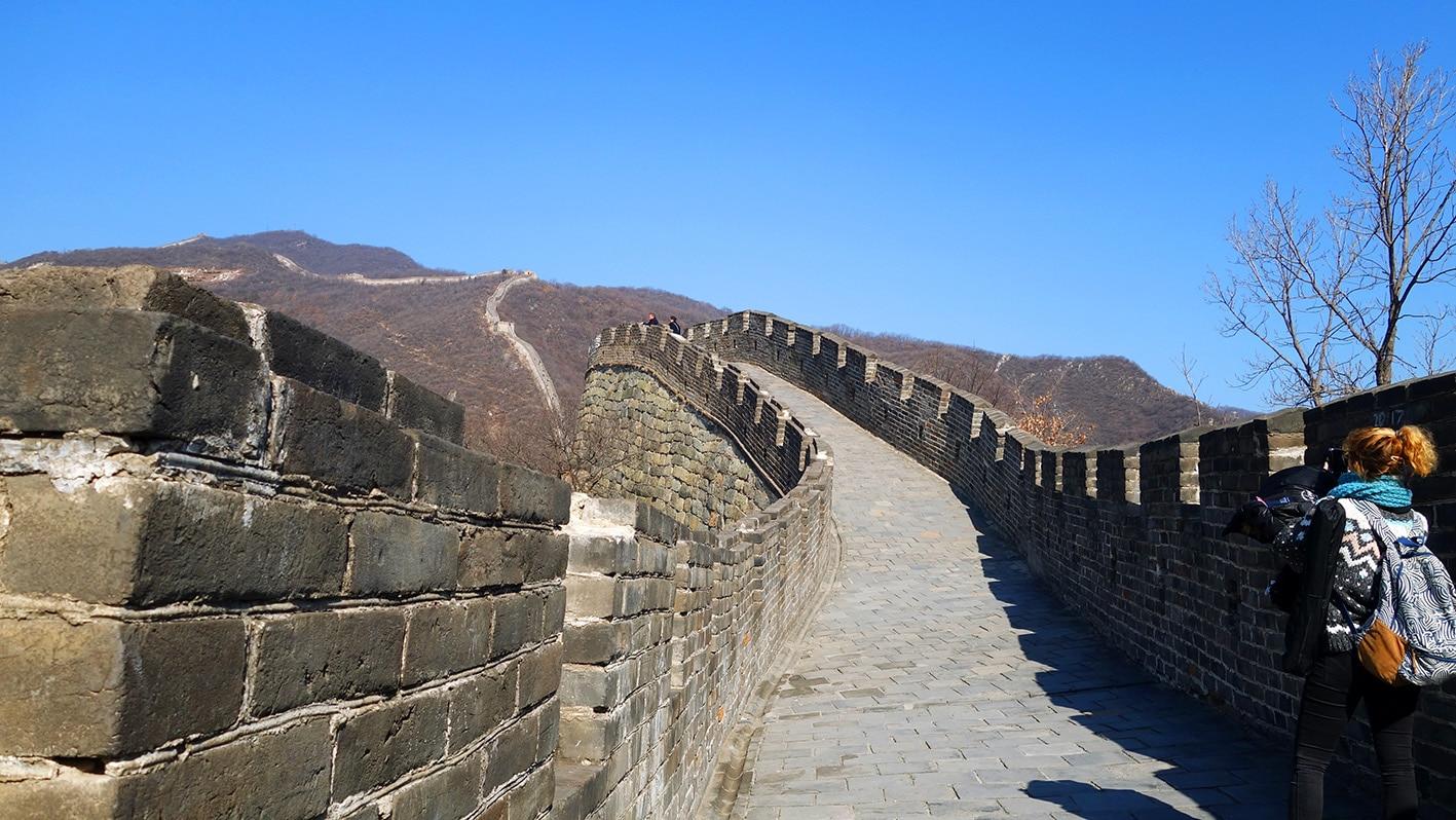 Pékin Mutianyu Lykorne marche muraille