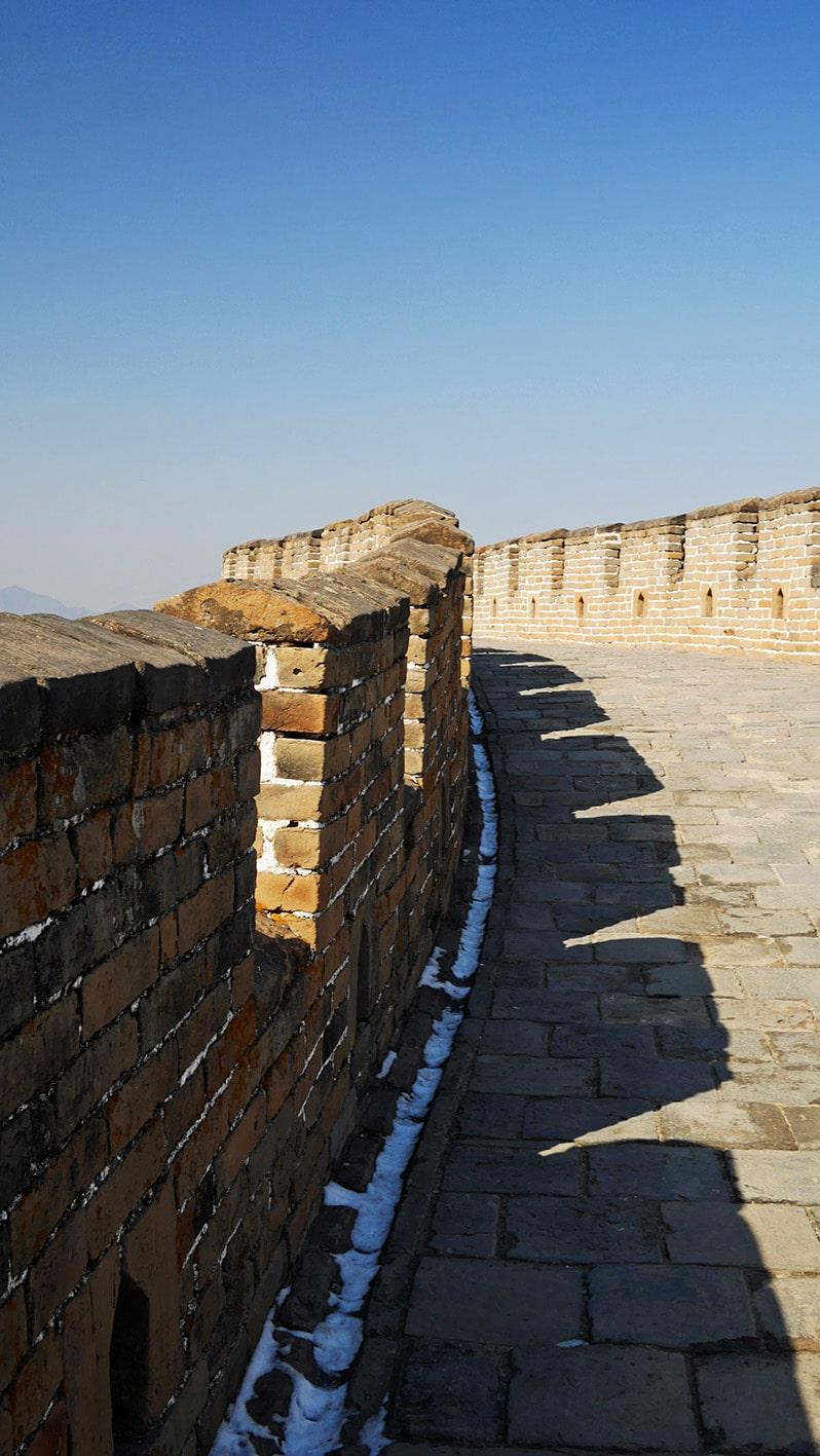 Muraille de Chine - Mutianyu ciel bleu remparts