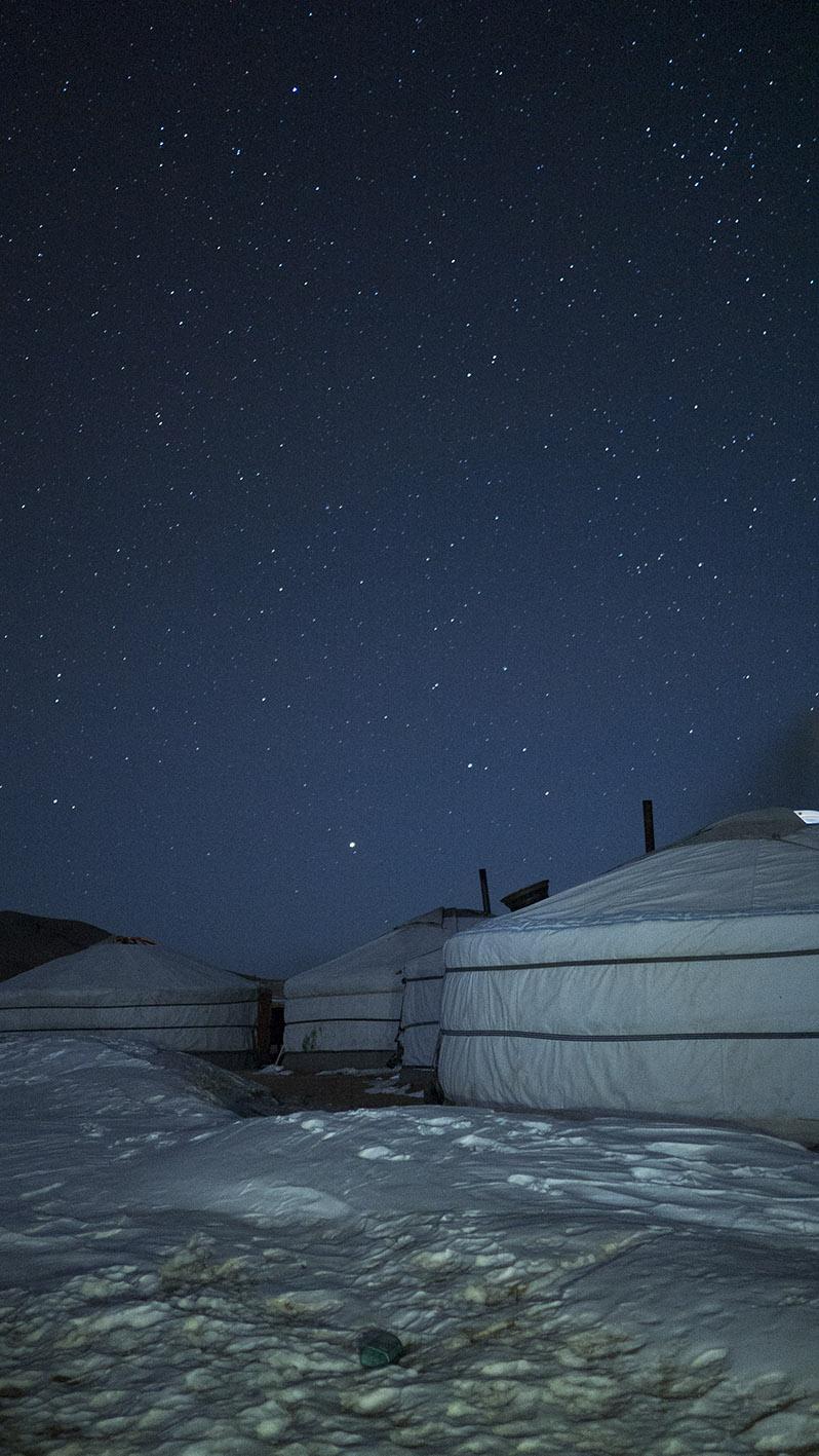 Etoiles Orkhon Mongolie nuit yourte