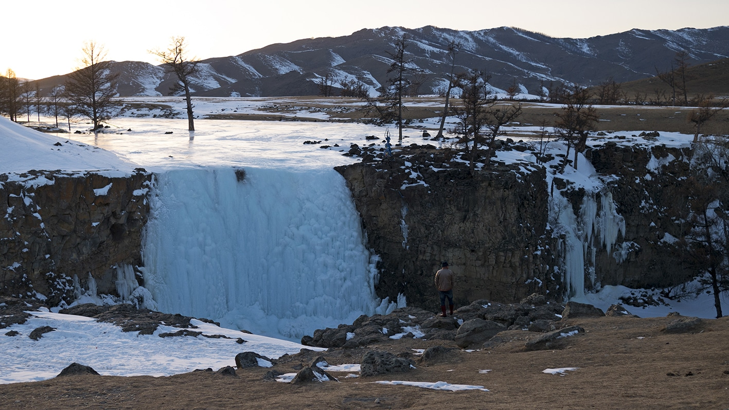 Cascade de glace Vallée de l'Orkhon