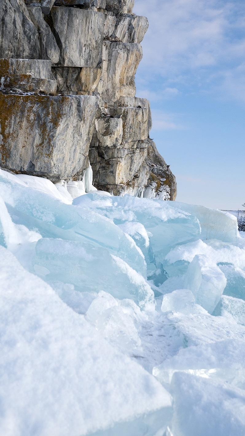 Rocher Bourkhan lac Baïkal Sibérie