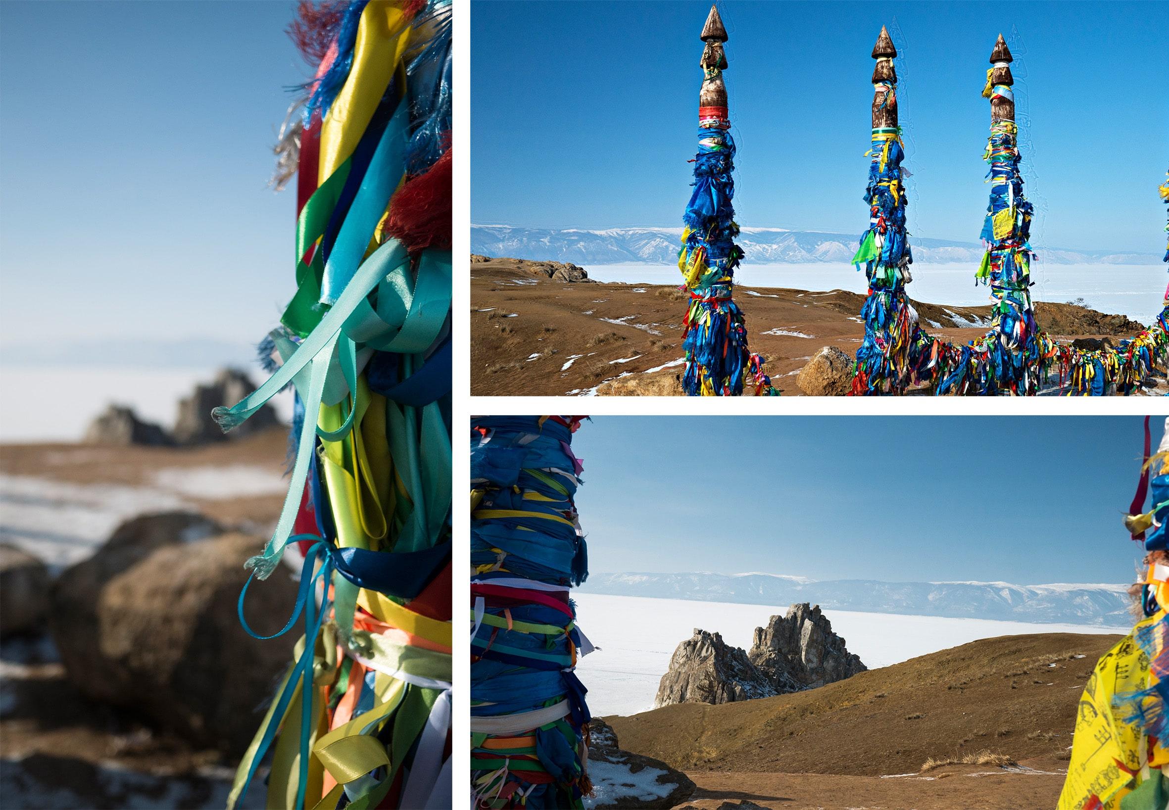 lac Baïkal Sibérie rubans couleurs neige