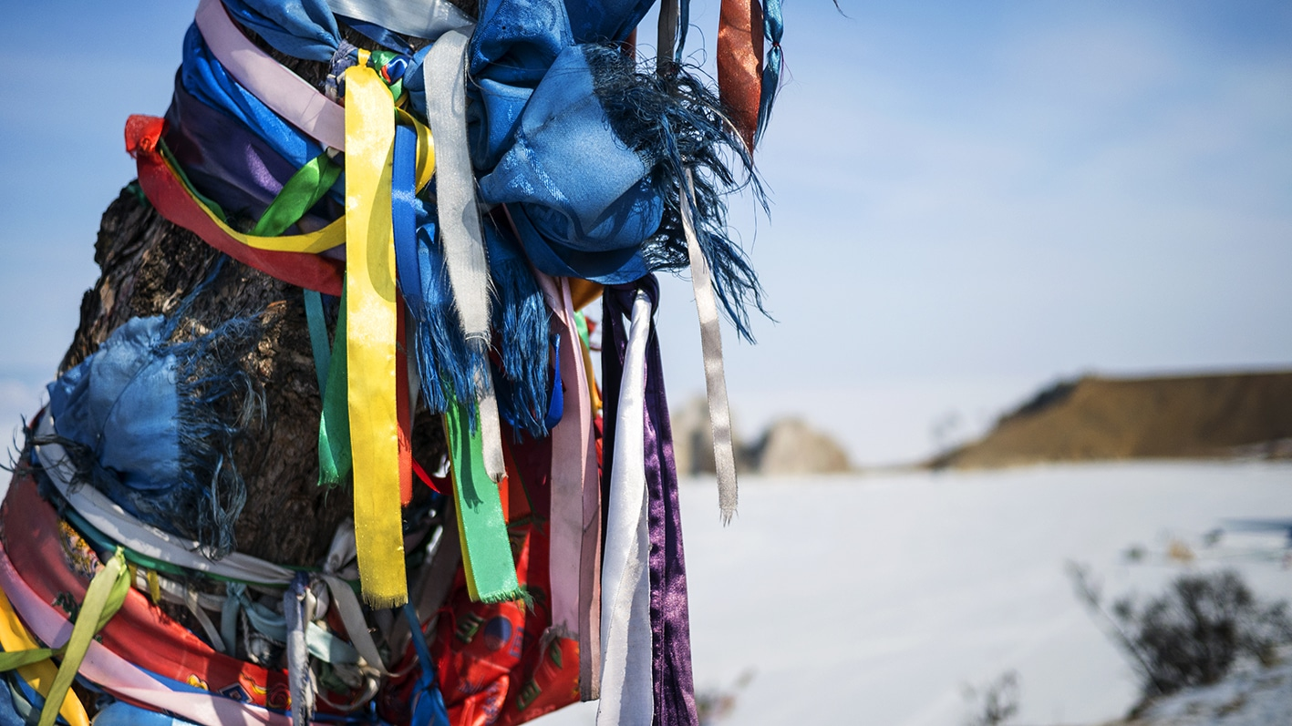 Rubans couleurs chaman Sibérie