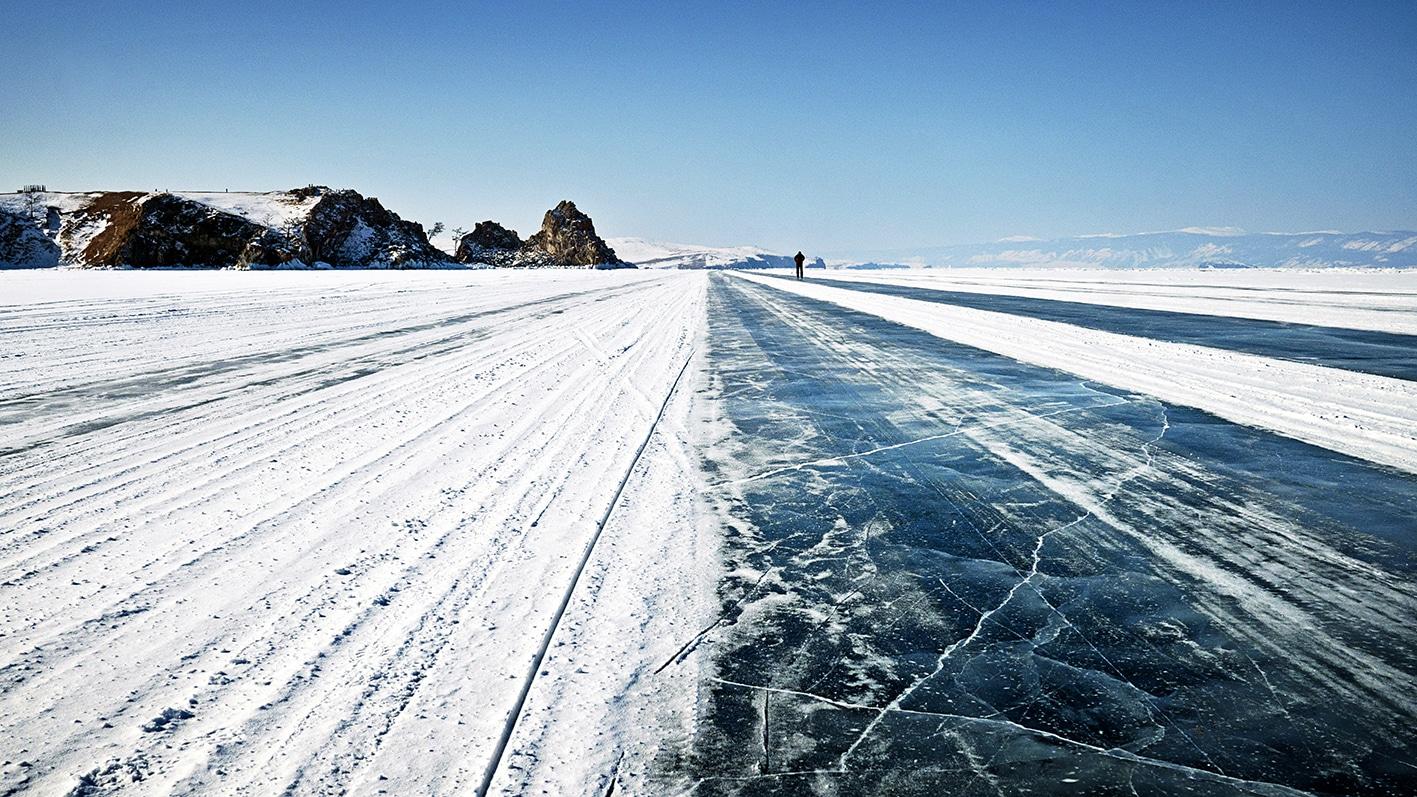 Ile d'Olkhon route de glace perle de Sibérie