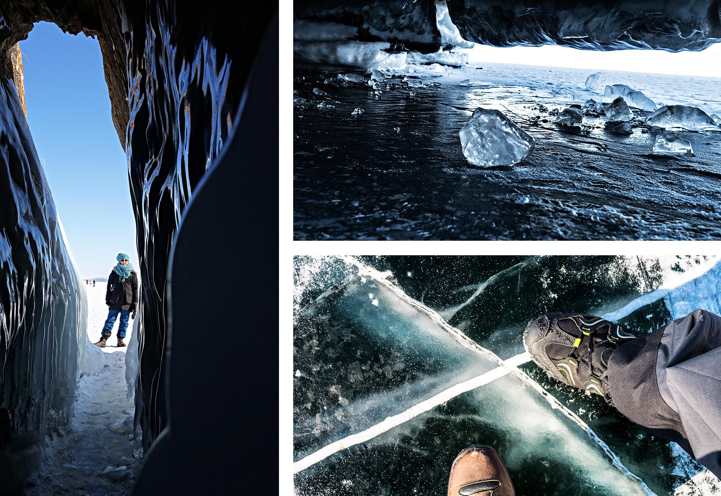 grotte glace neige lac Baïkal