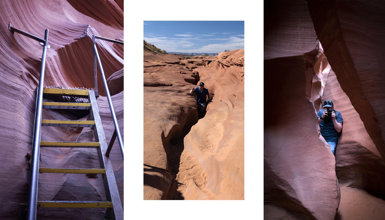Lower Canyon cavités échelle