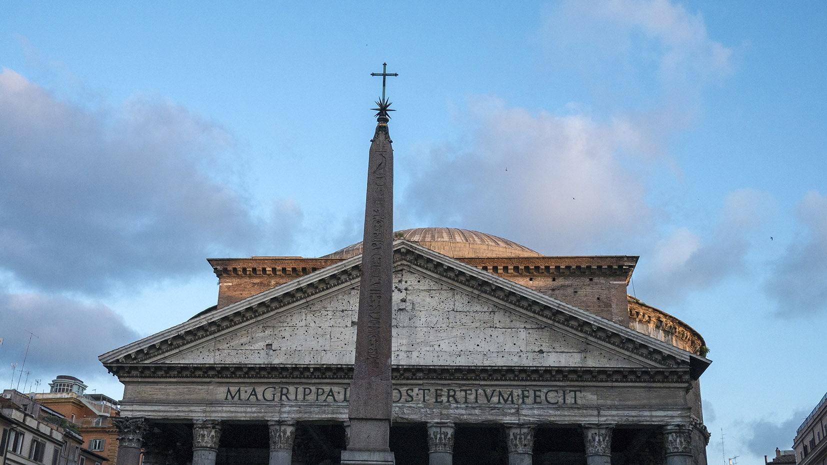 Place de la Rotonde Panthéon italie ciel bleu Rome en 3 jours
