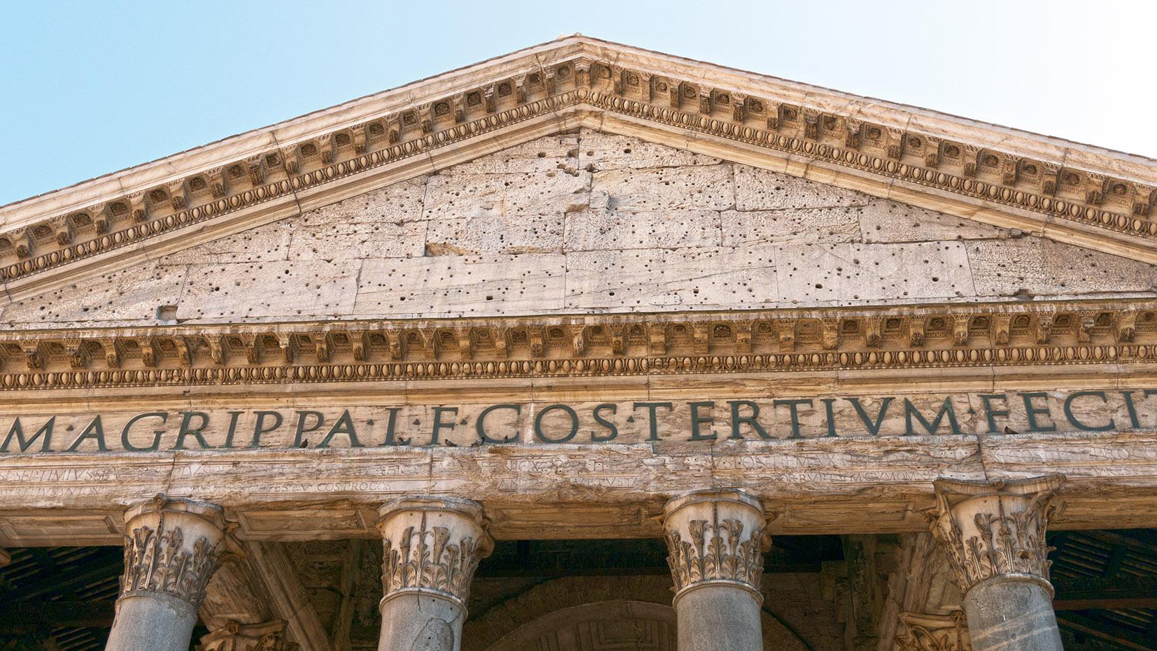 Panthéon Rome en 3 jours façade pierre