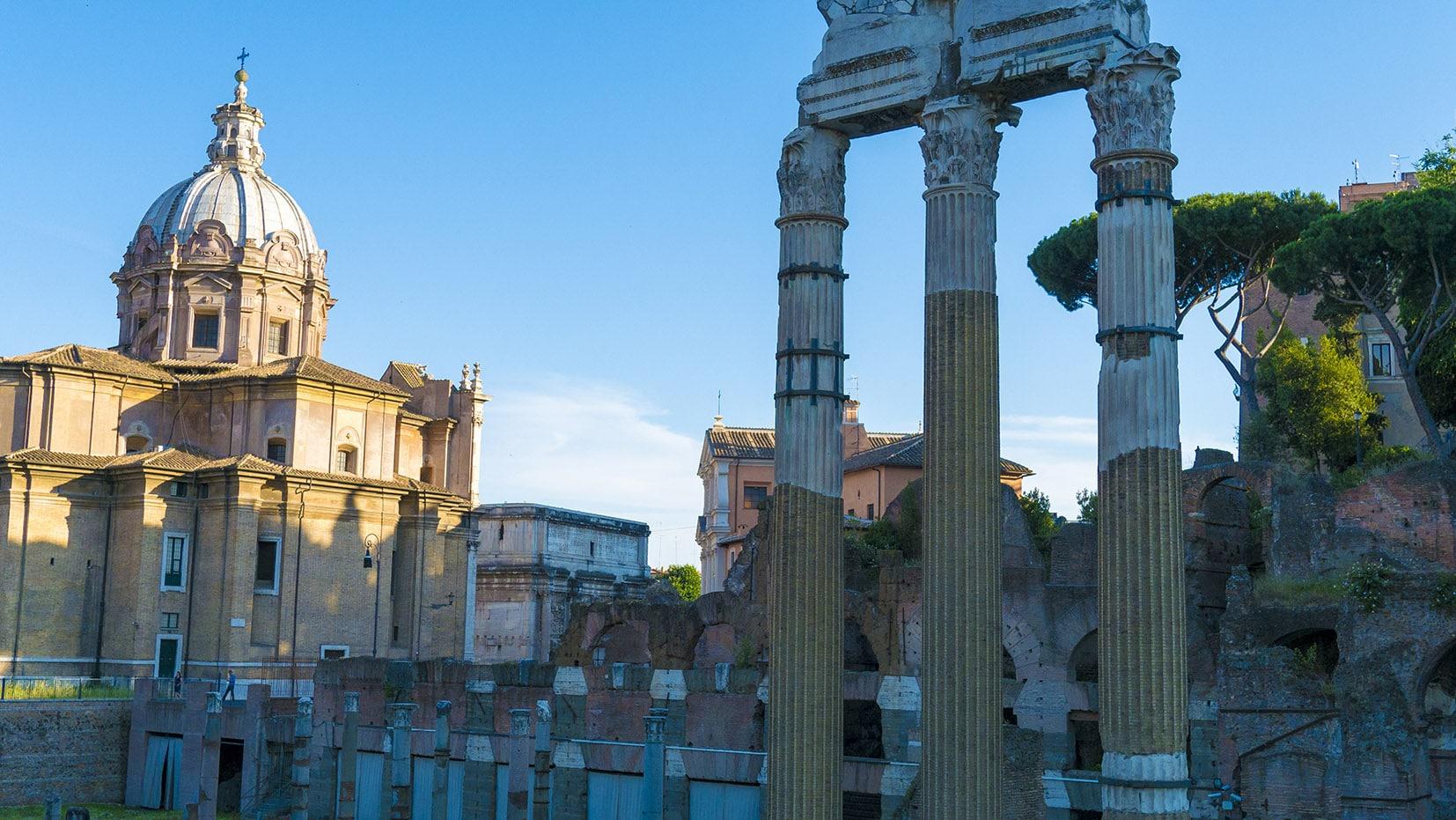 Rome en 3 jours colonnes basilique Italie