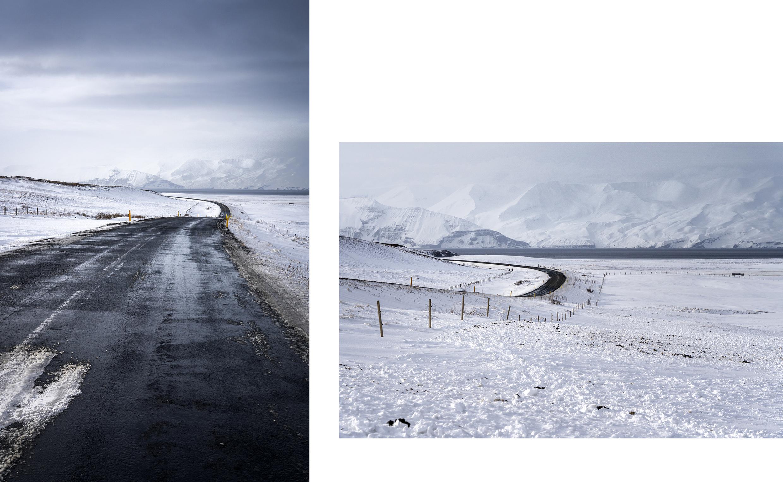 route montagnes neige