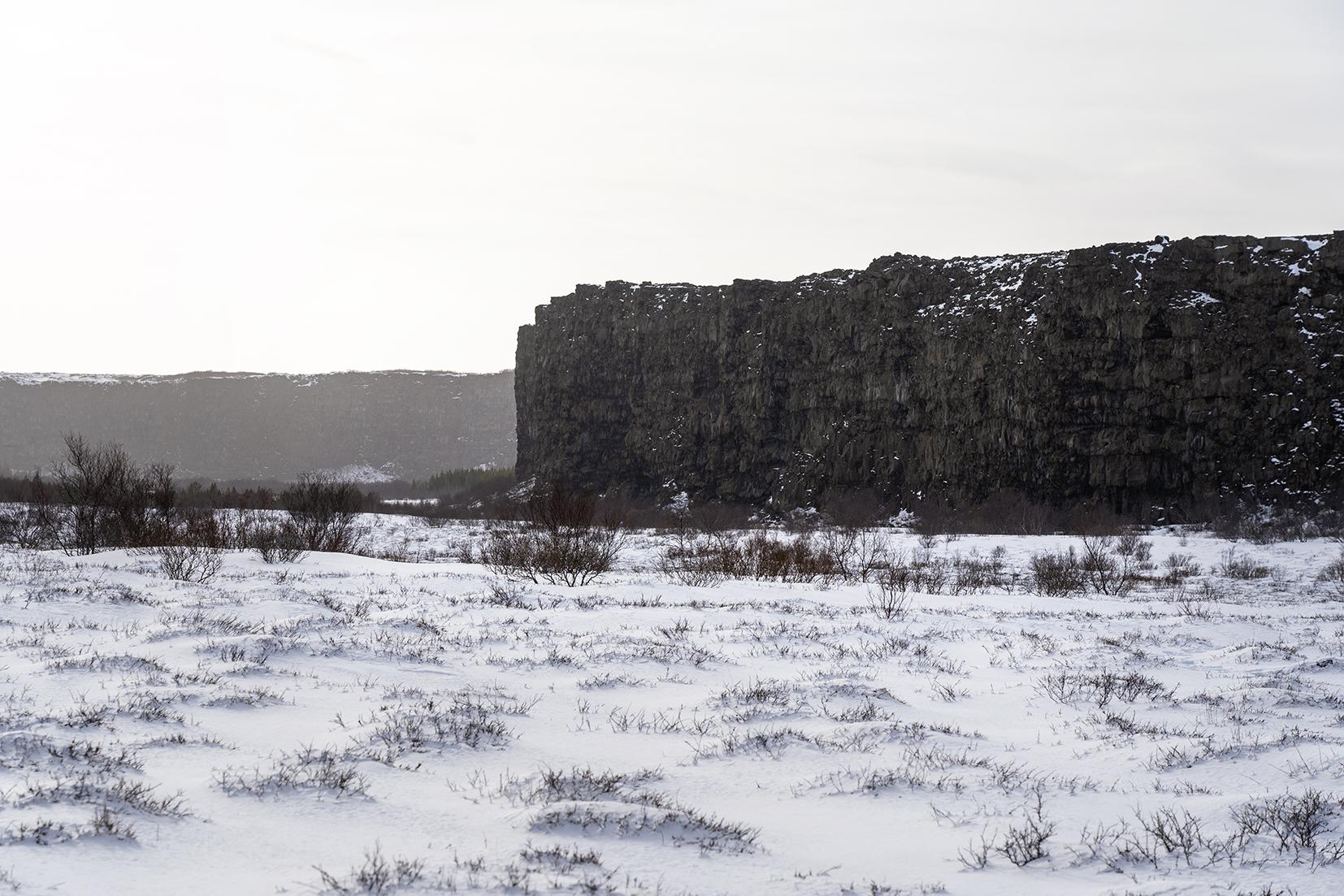 Jökulsárgljúfur Islande du Nord faille basalte