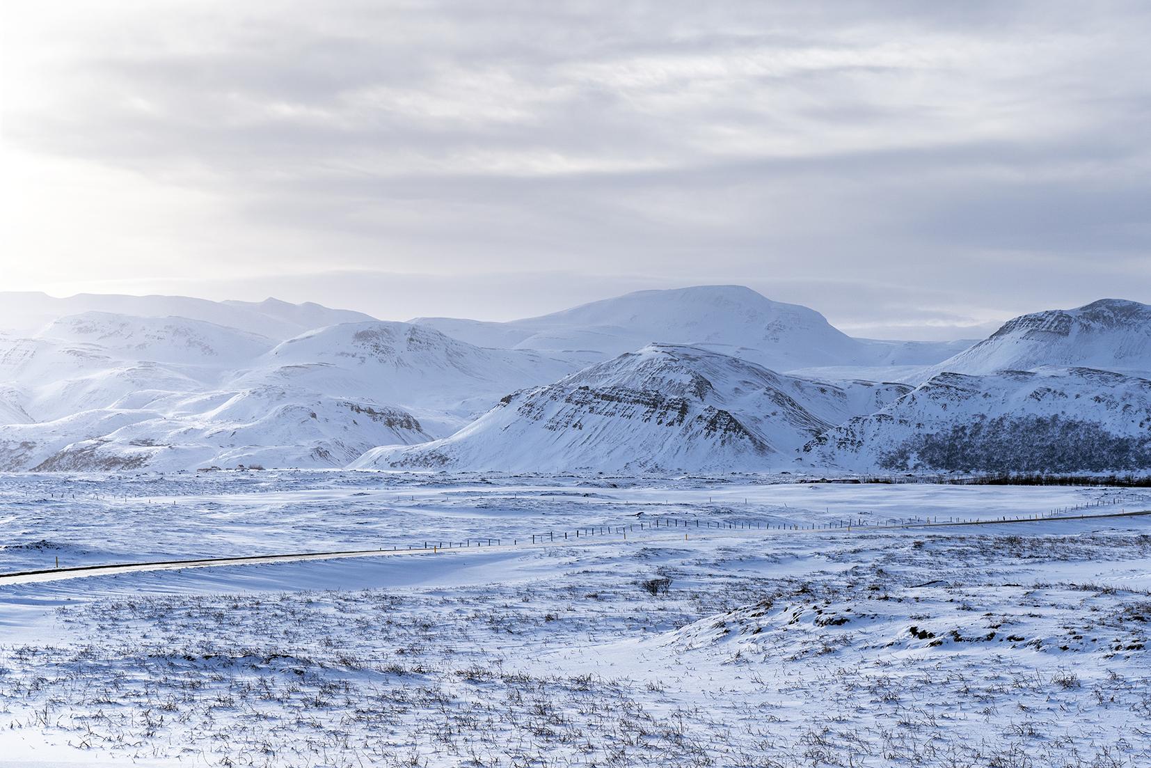 Islande du Nord montagnes route