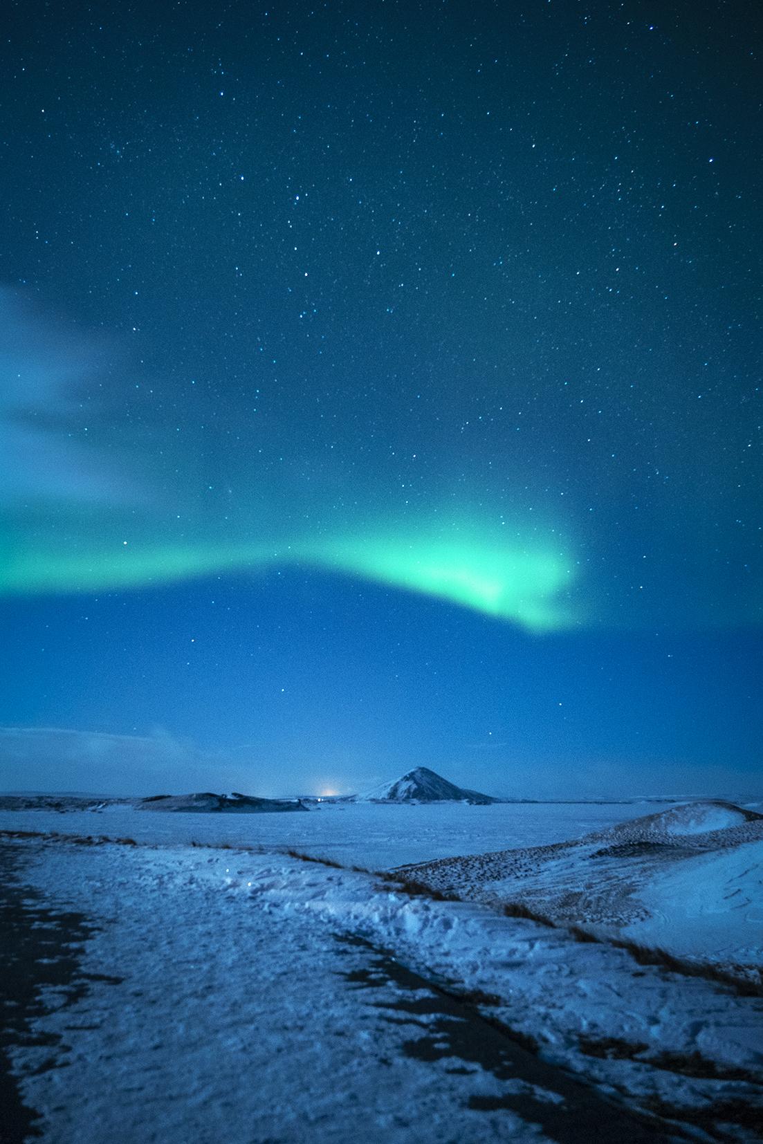 Mývatn Islande du Nord aurores boréales