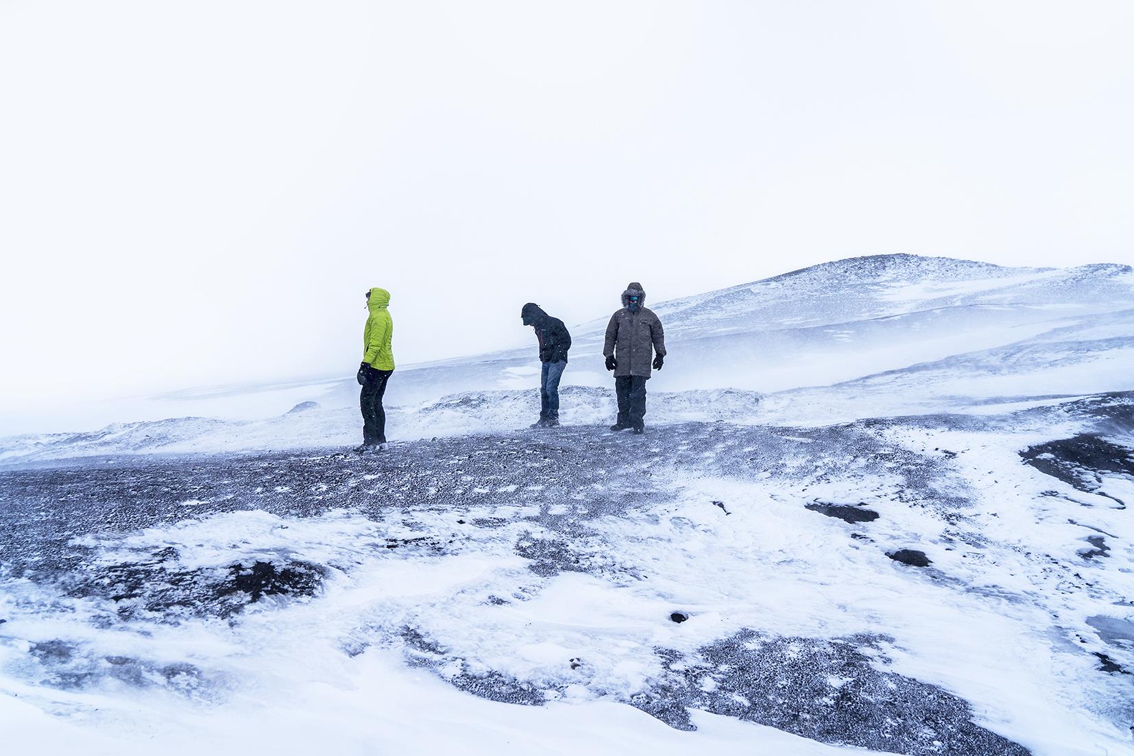 Mývatn tempête montagne volcans zone géothermique