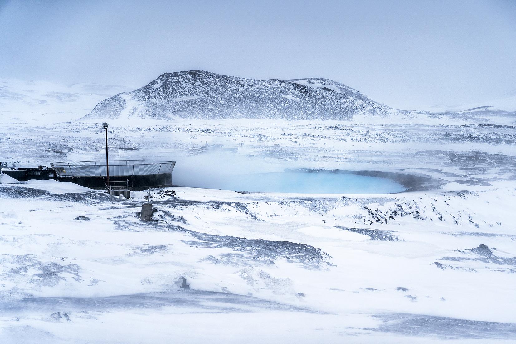 Mývatn Nature Baths joiur sources eau soufre fume montagnes Islande du Nord