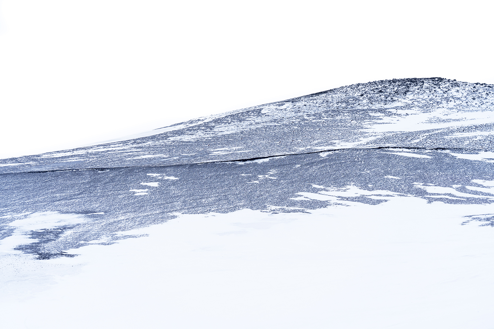 Islande du Nord Mývatn montagne détail noir et blanc