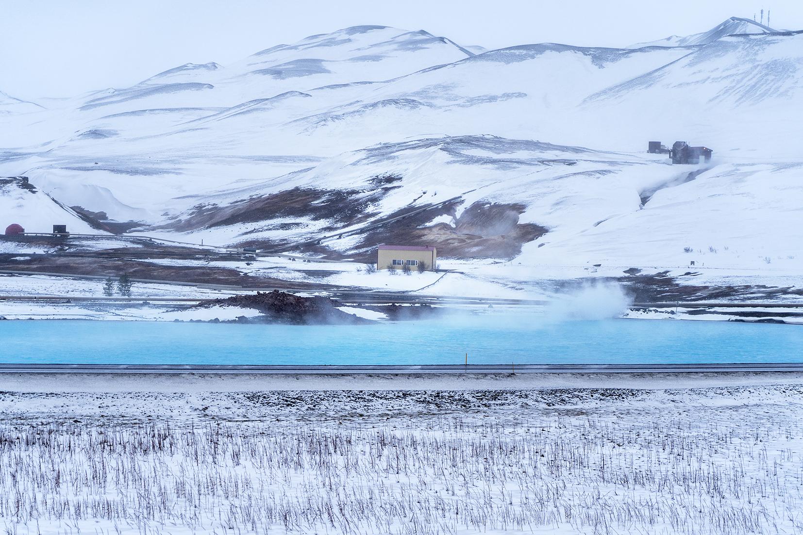 Blue lake Mývatn Islande du Nord