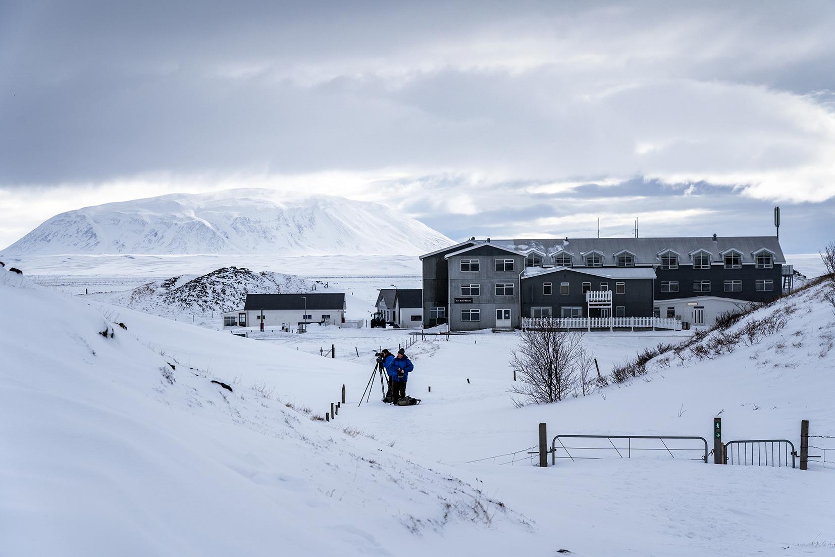 Mývatn Nature Baths montagnes rayons neige