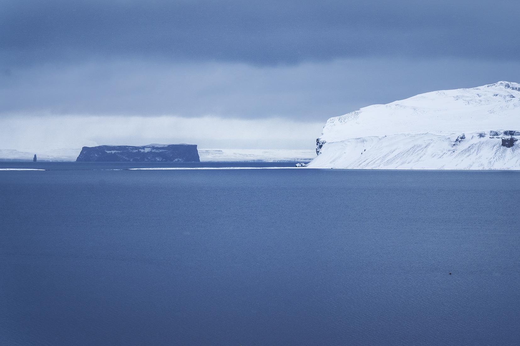 Skagafjördur Drangey neige mer Islande du Nord