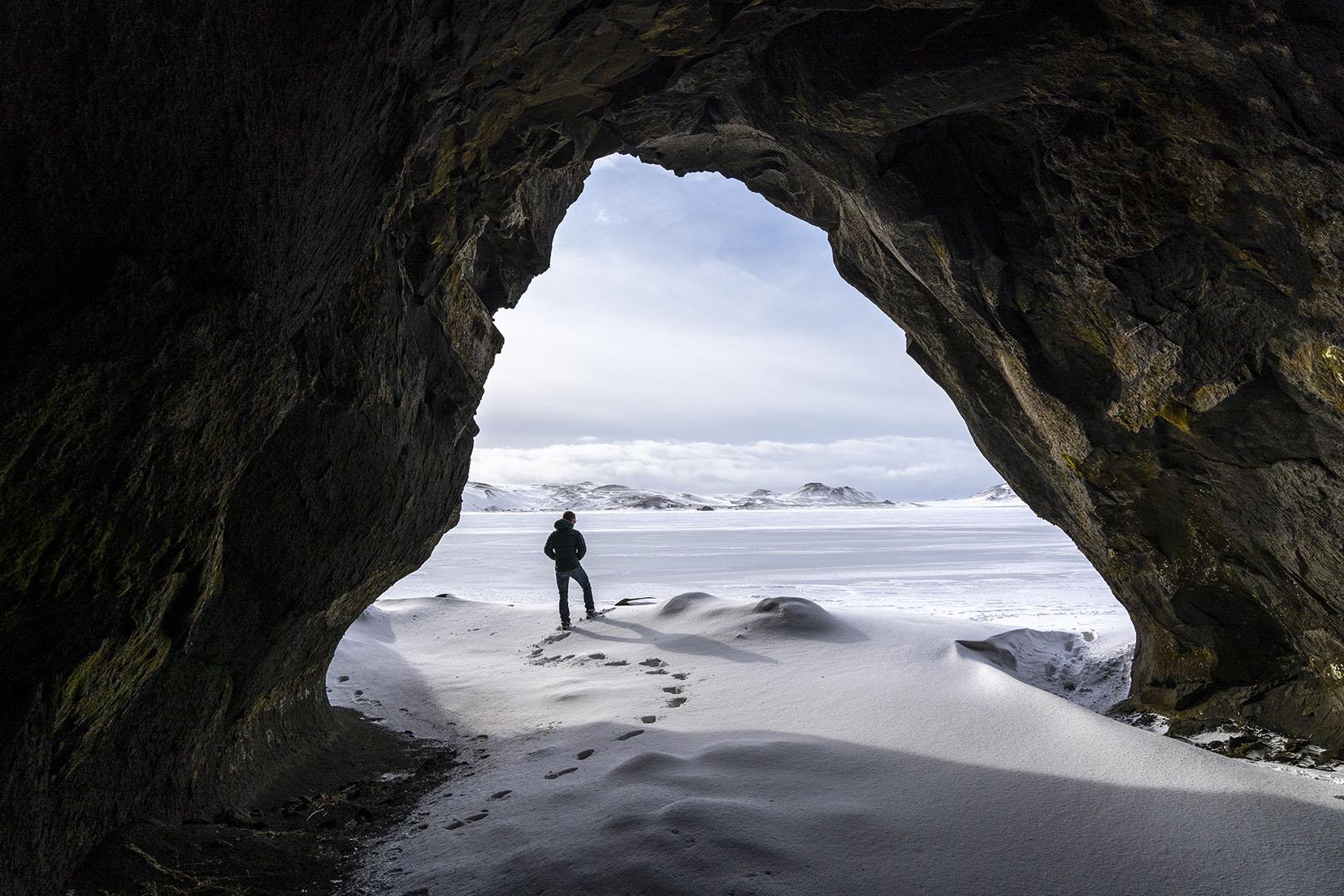lac Reykjanes grotte Islande