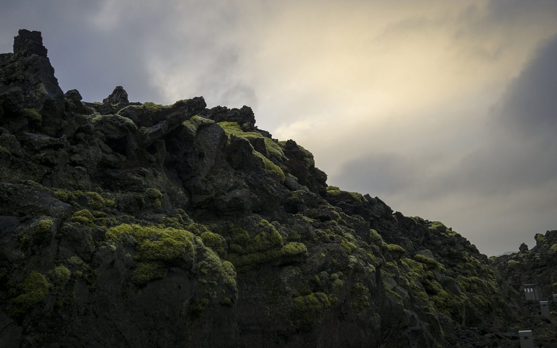 Lave terre volcanique hiver