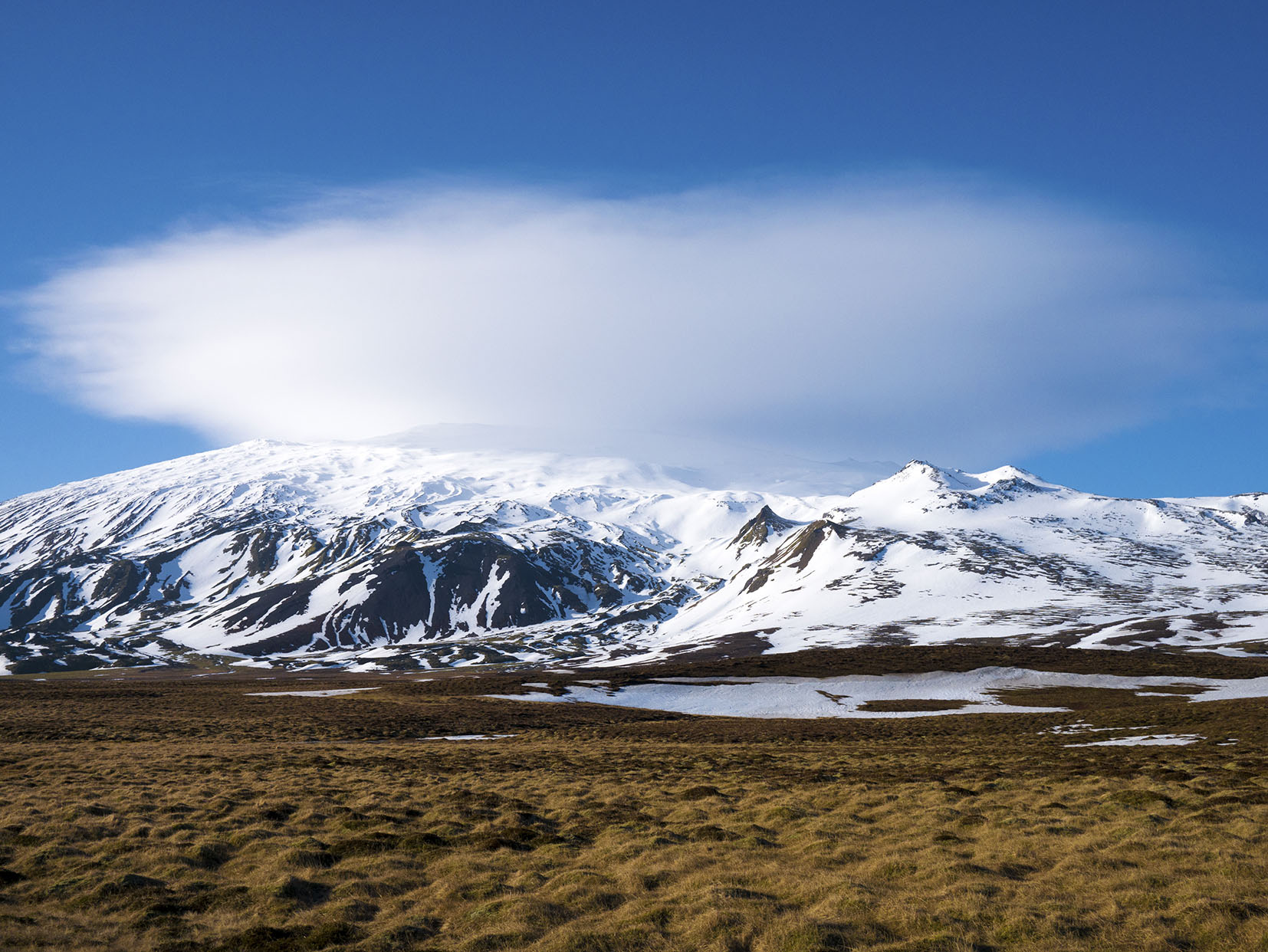 Islande en hiver Snaefellsjokull