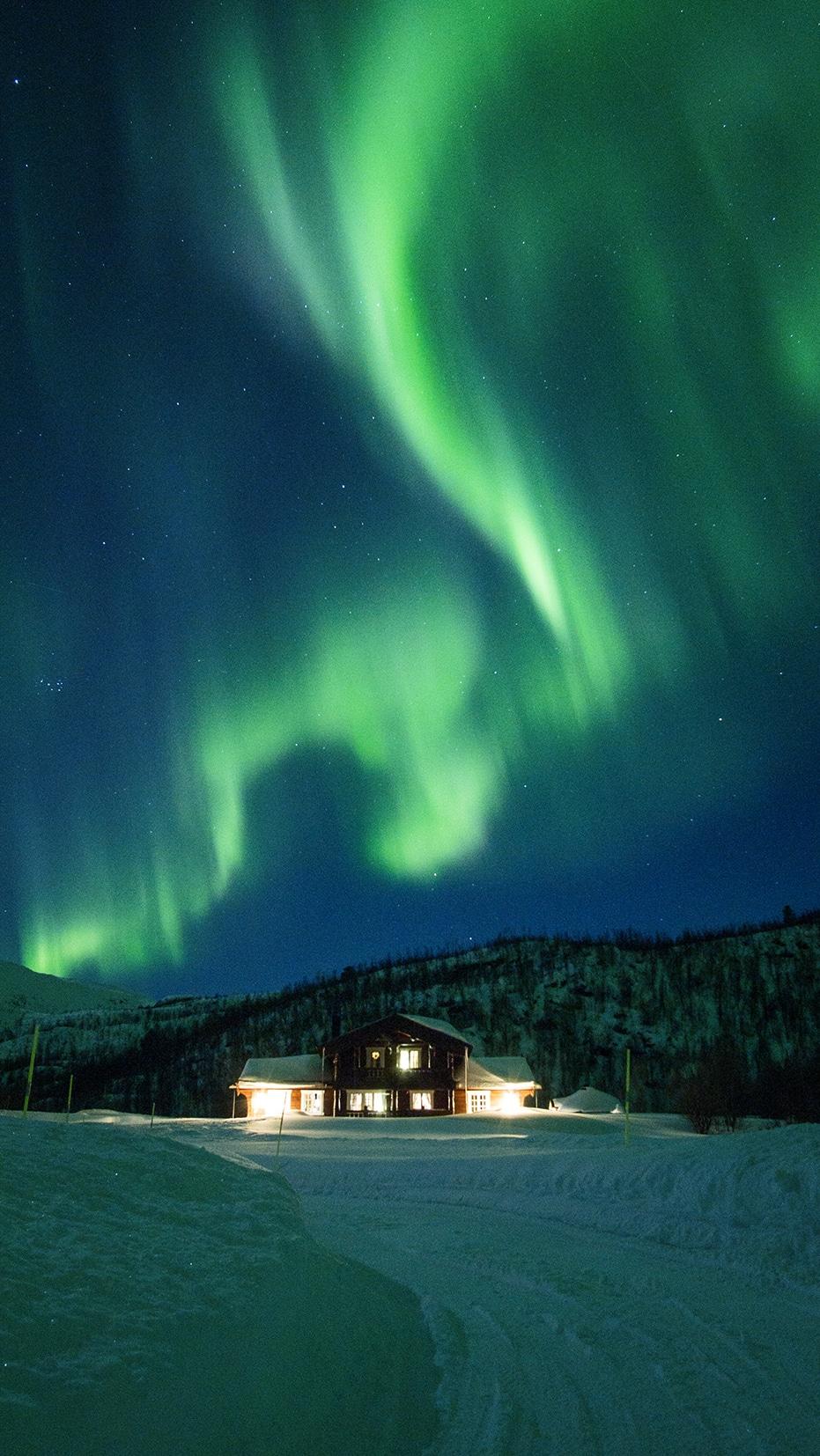 aurores boréales Norvège northern lights nuit étoiles