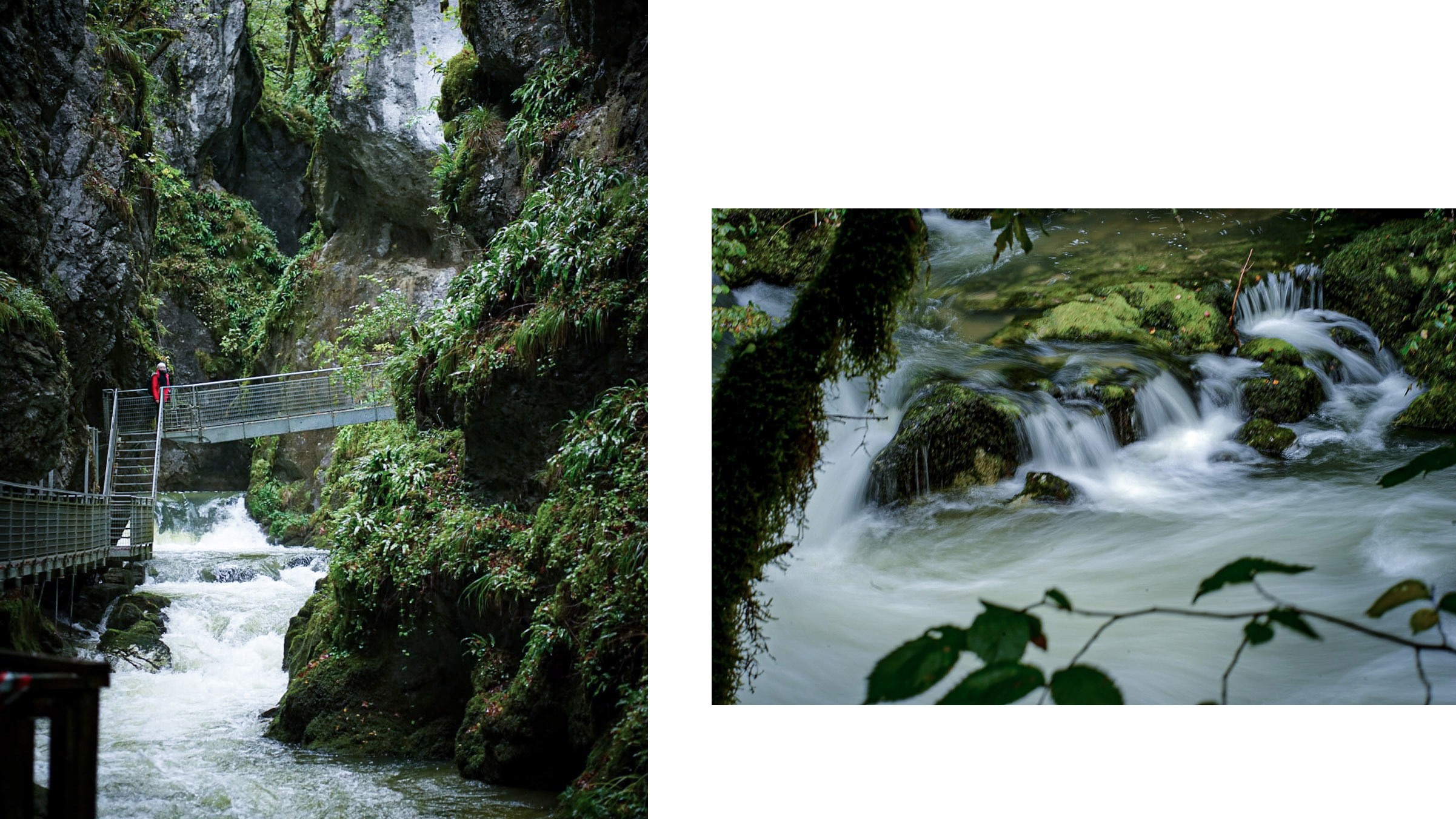 Gorges de l'Abîme cascades passerelle rochers falaises