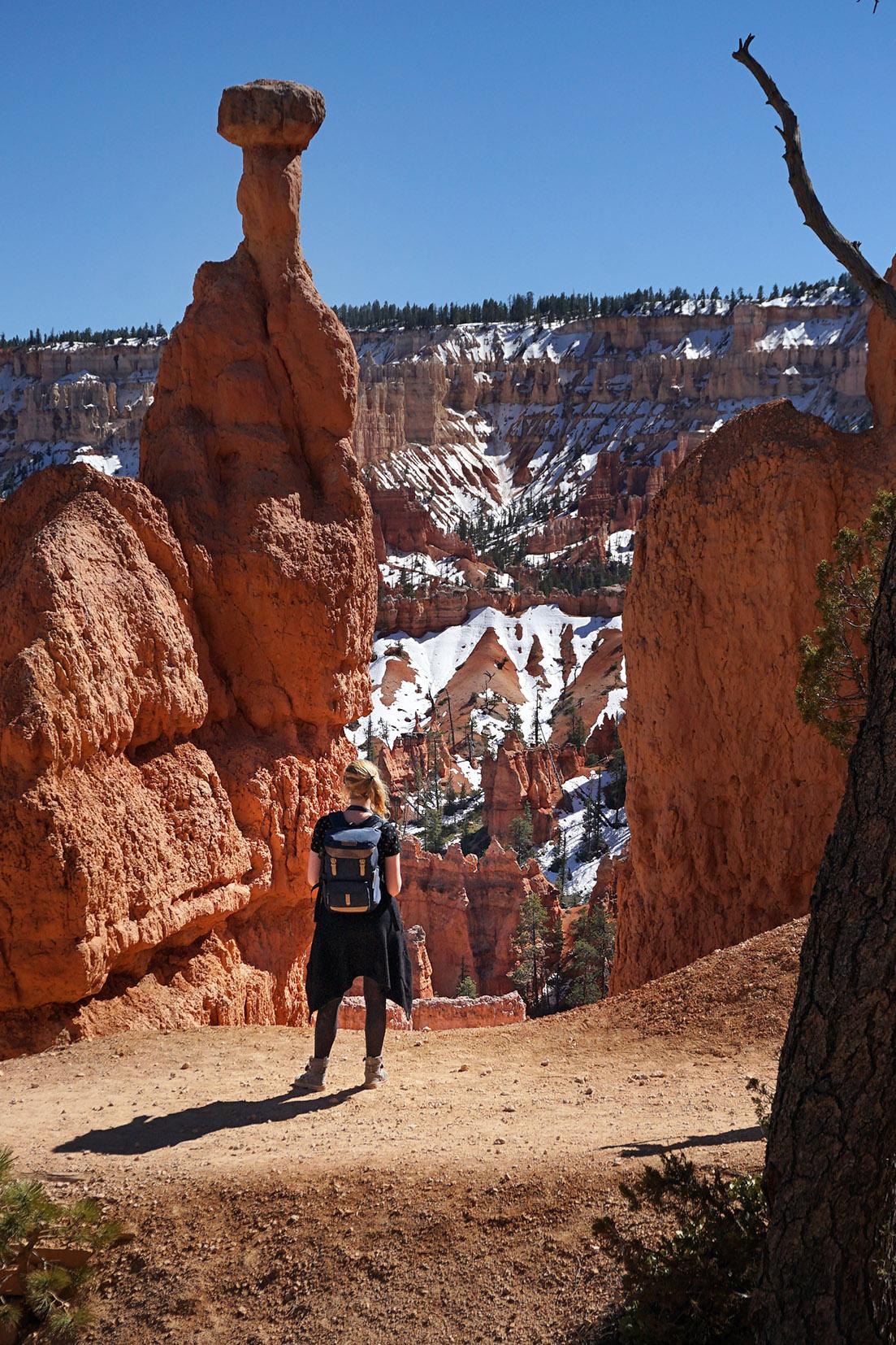 Bryce Canyon cheminées de fées ciel bleu