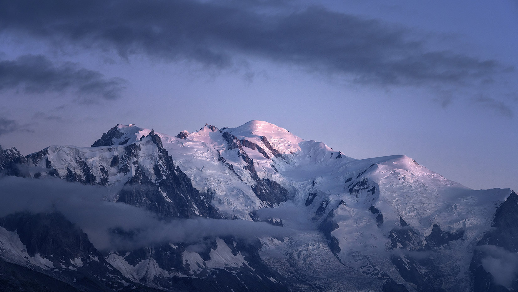 Mont-blanc coucher de soleil Haute-Savoie