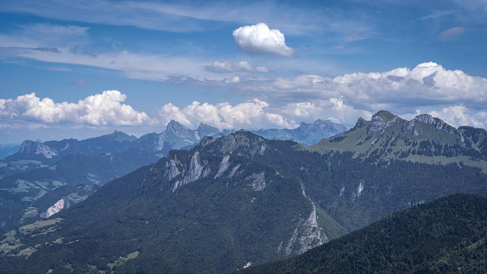 Mont Forchat Haute-Savoie vue montagnes ciel bleu nuages