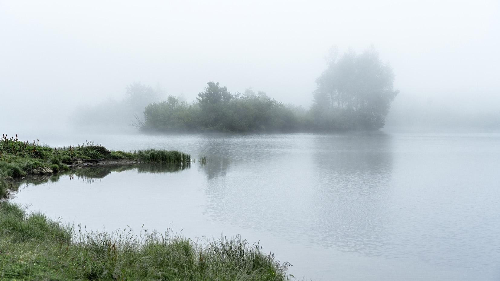 lac de Joux Plane brouillard pluie